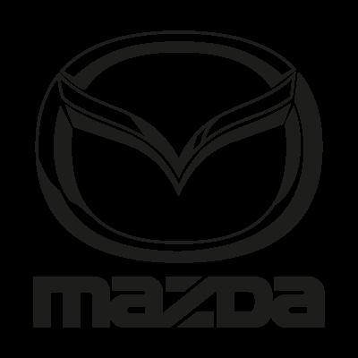 Mazda black logo vector logo