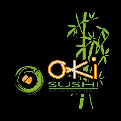 Oki Sushi logo vector logo