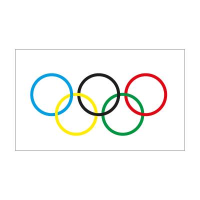 Olympic Flag logo vector logo