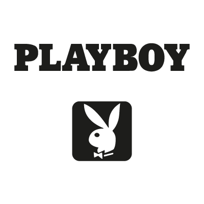 Playboy black logo vector logo