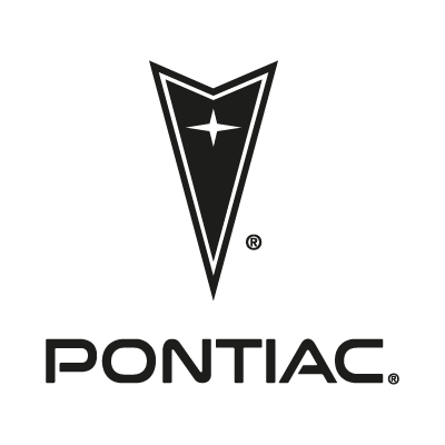Pontiac black logo vector logo