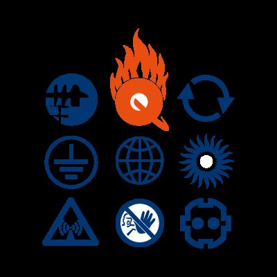 Q-Zar logo vector logo