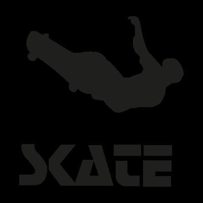 Skate logo vector logo