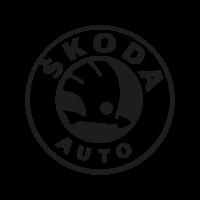 Skoda Auto black logo