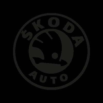 Skoda Auto black logo vector logo