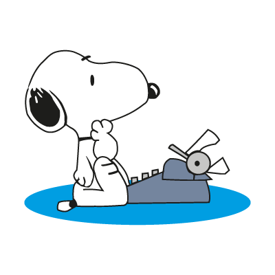 Snoopy character vector logo