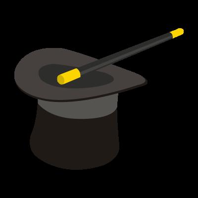 Sombrero de Mago vector logo