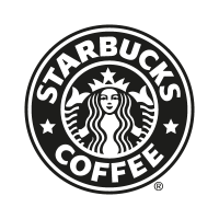 Starbucks Coffee black logo