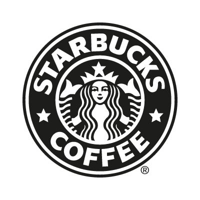 Starbucks Coffee black logo vector logo