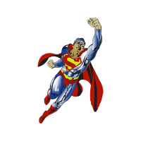 Superman flying vector