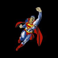 Superman flying vector