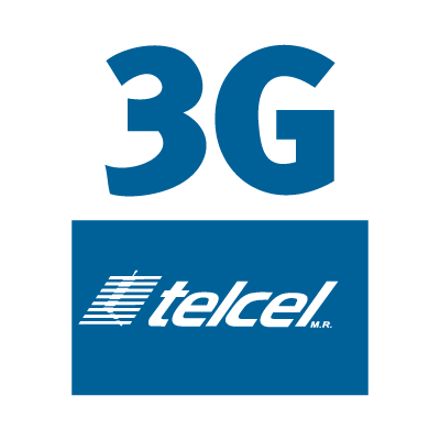 Telcel 3g logo vector logo