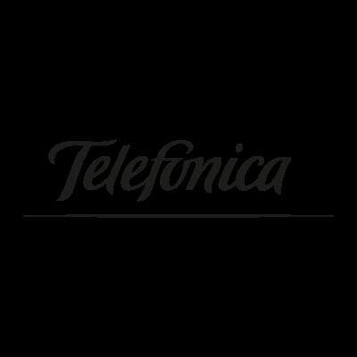 Telefonica black logo vector logo