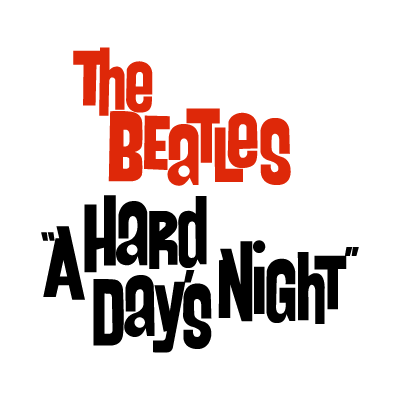The Beatles a hard day's night logo vector logo