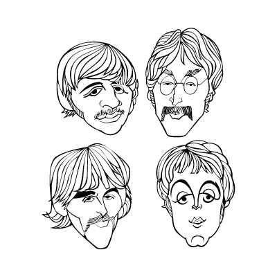 The Beatles band vector logo