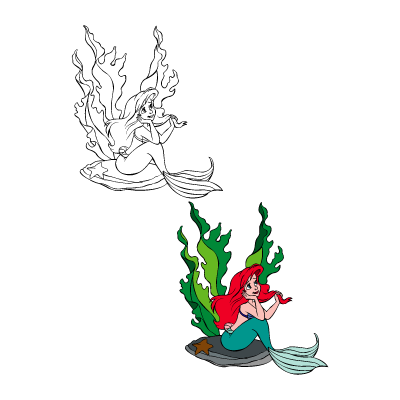The little mermaid – Ariel vector logo