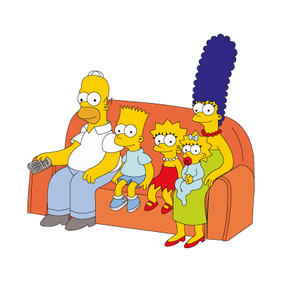 The Simpsons Family vector logo