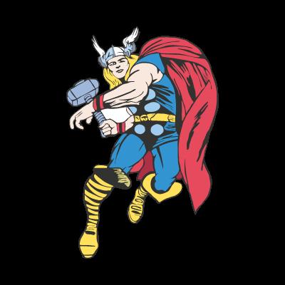 Thor Cartoon vector logo
