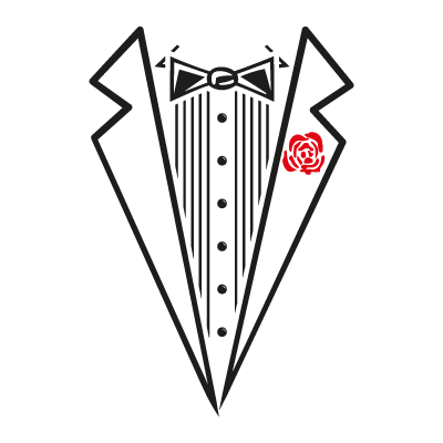 Tuxedo Shirt logo vector logo