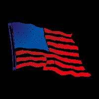 Flag of USA Flying vector
