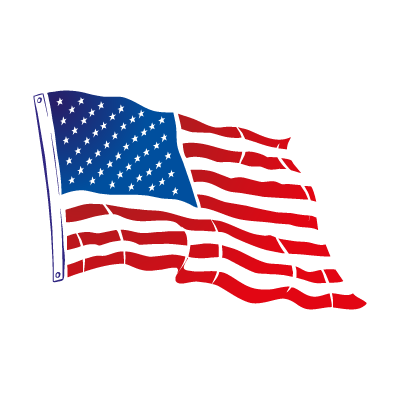Flag of USA Flying vector logo