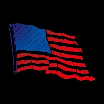 Flag of USA Flying vector logo
