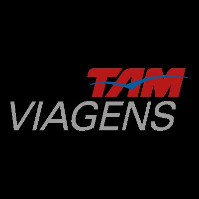 Tam viagens logo vector logo