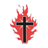 The Cross On Fire For God vector