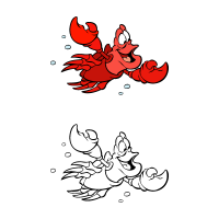 The little mermaid – Sebastian vector