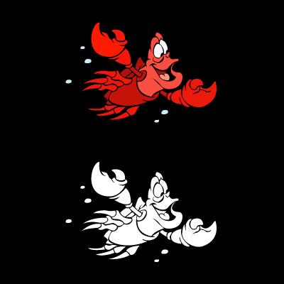 The little mermaid – Sebastian vector logo