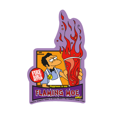 The Simpsons Flaming Moe vector logo
