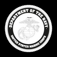 US Marine Corp Black logo