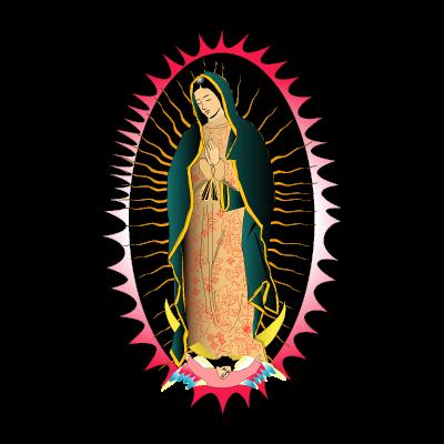 Viregn de Guadalupe vector logo