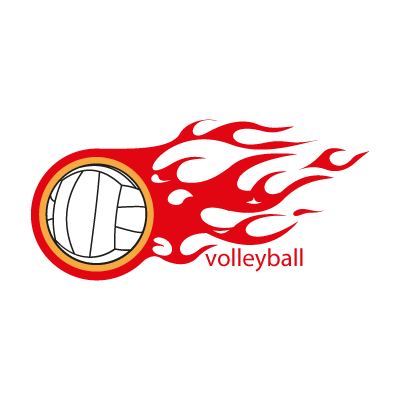 Volleyball logo vector logo