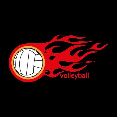 Volleyball logo vector logo