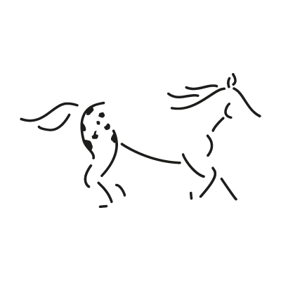 Walkaloosa Horse Ranch vector logo