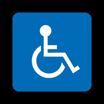 Wheelchair accessible logo vector logo
