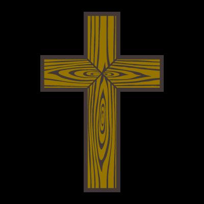 Wood cross vector logo