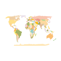 World Map Earth logo