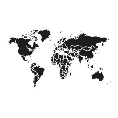 World black vector logo