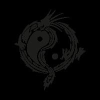 Yin yang dragon vector
