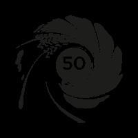 007 50th Anniversary logo