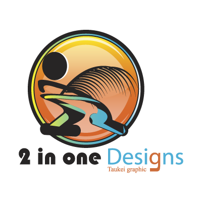 2 in one Designs logo vector logo
