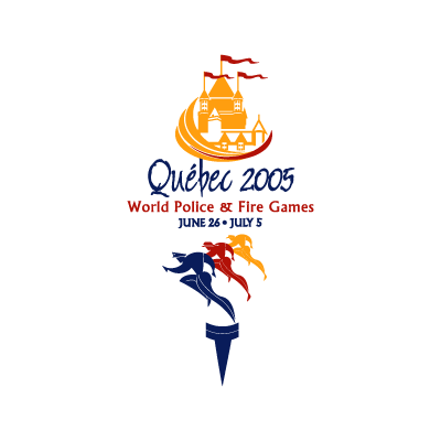 2005 World Police and Fire Games logo vector logo