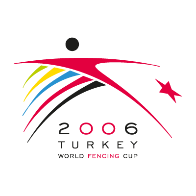 2006 turkey world fencing cup logo vector logo