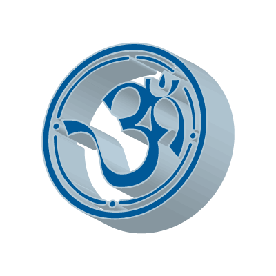 3D Aum logo vector logo