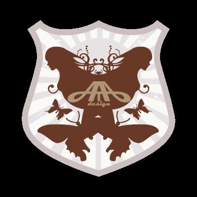 A de T-bar logo vector logo