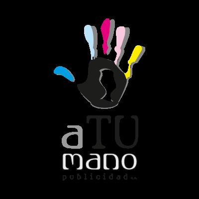 A tu mano publicidad logo vector logo