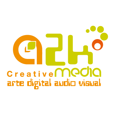 A2k creative media logo vector logo