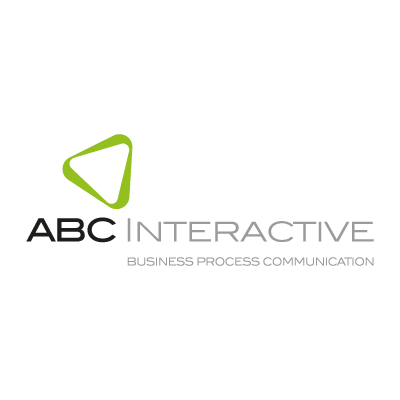Abc interactive logo vector logo